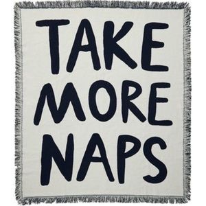 NIP Jacquard Throw Expressions Take More Naps
